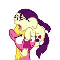 Size: 768x768 | Tagged: safe, artist:superiorwarrior, imported from derpibooru, boysenberry, cherry berry, earth pony, pony, campfire tales, .ai available, .svg available, absurd resolution, eyes closed, faic, female, filly, mare, open mouth, pulling, pulling out, simple background, svg, transparent background, vector