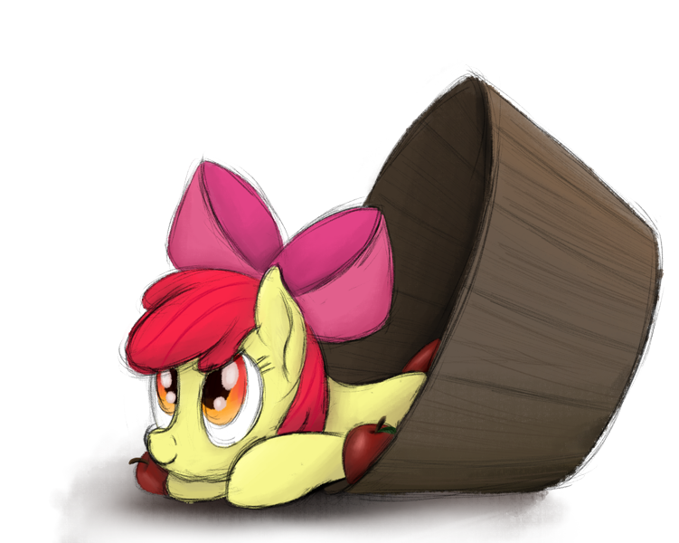 Size: 1099x878 | Tagged: safe, artist:ahorseofcourse, apple bloom, earth pony, pony, adorabloom, apple, cute, featured image, female, filly, food, simple background, solo, transparent background